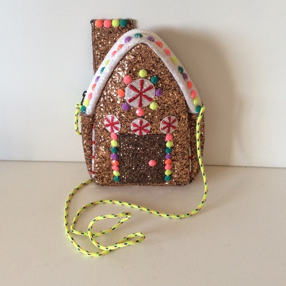 SOLD- Glitter Gingerbread House Bag by Crewcuts